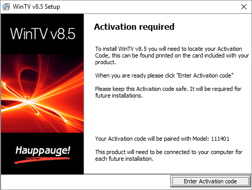 WinTV v8 Activate